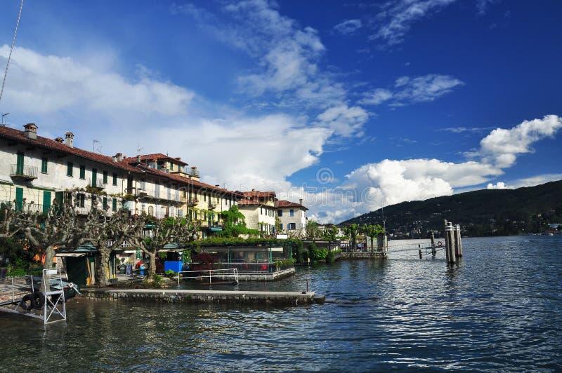 Dei Pescatori de Isola, lago Maggiore, Itália fotografia de stock