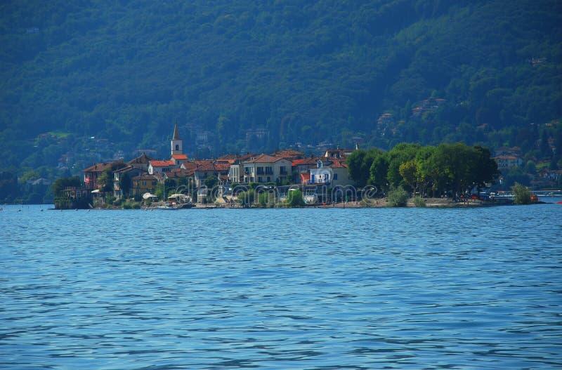 Dei Pescatori de Isola Superiore, lago Maggiore fotografia de stock