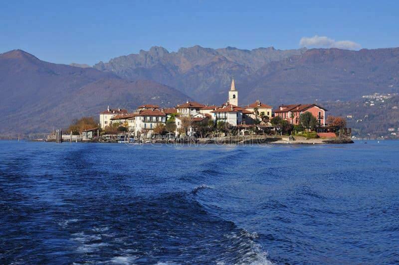 Dei Pescatori Isola, озеро (lago) Maggiore, Италия стоковые изображения