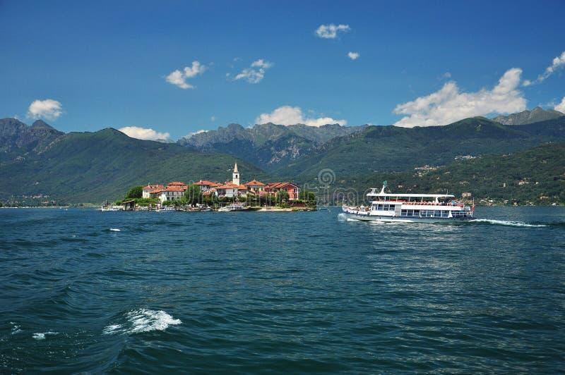 Dei Pescatori, lago Maggiore, Italia de Isola foto de archivo