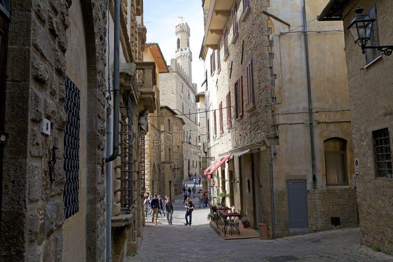 Dei Priori de Palazzo no centro histórico de Volterra, Toscânia, Itália foto de stock