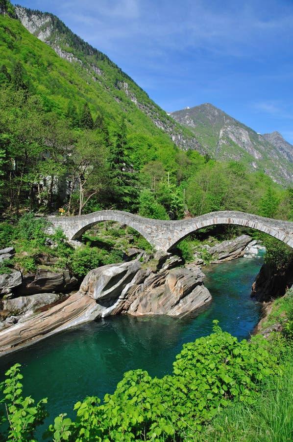 Dei Salti, Lavertezzo, Ticino de Ponte image libre de droits