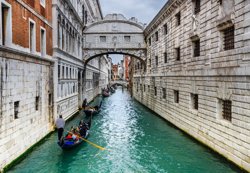 Dei Sospiri, Βενετία, Ιταλία Ponte στοκ εικόνες με δικαίωμα ελεύθερης χρήσης