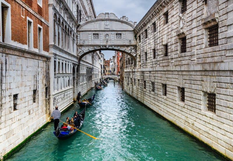 Dei Sospiri, Venezia, Italia di Ponte immagini stock libere da diritti