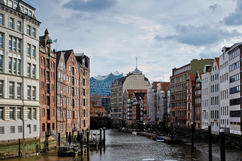 Deichstrasse in Hamburg stock foto
