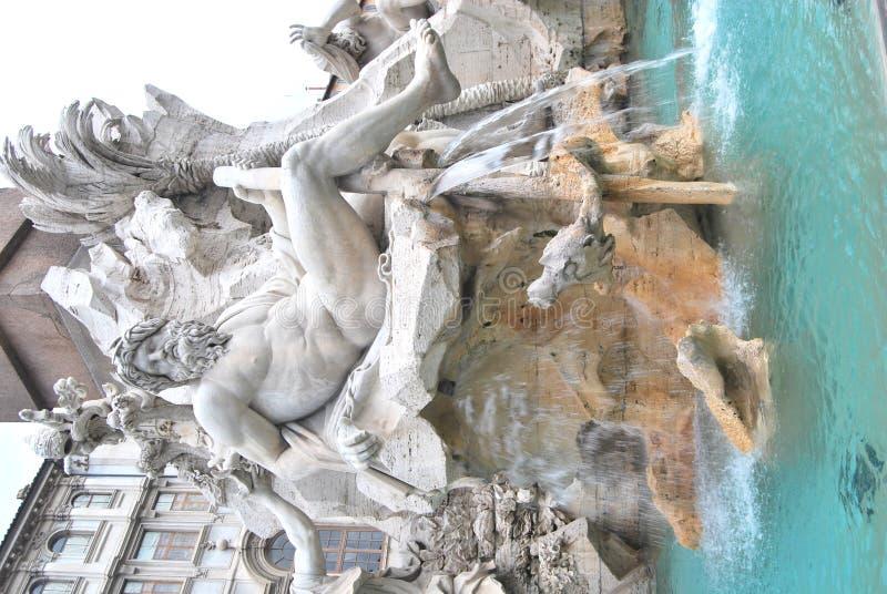 deifiumifontana quattro roma arkivbild