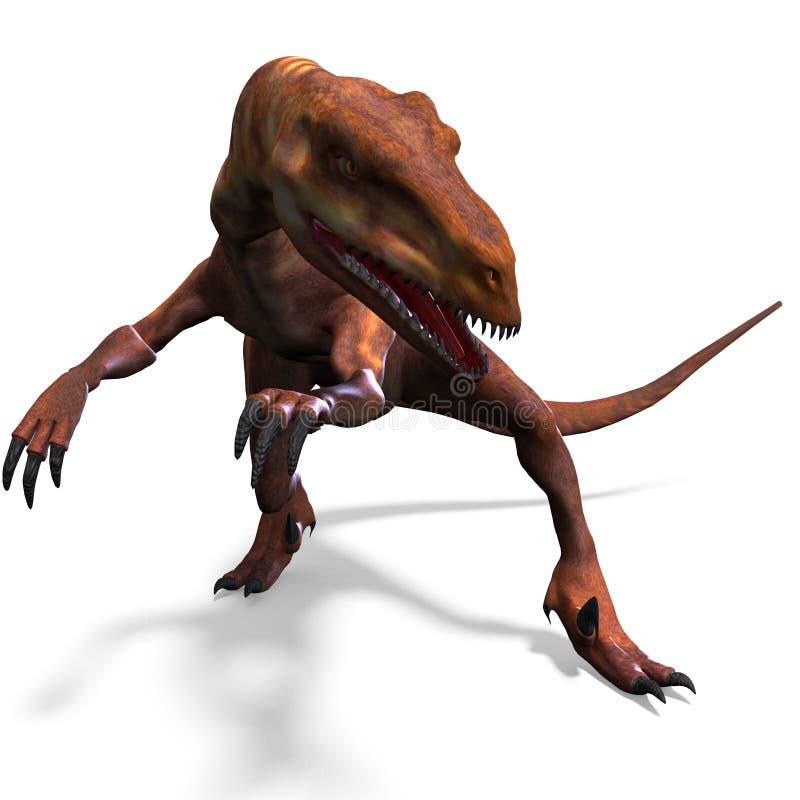 deinonychus恐龙 皇族释放例证