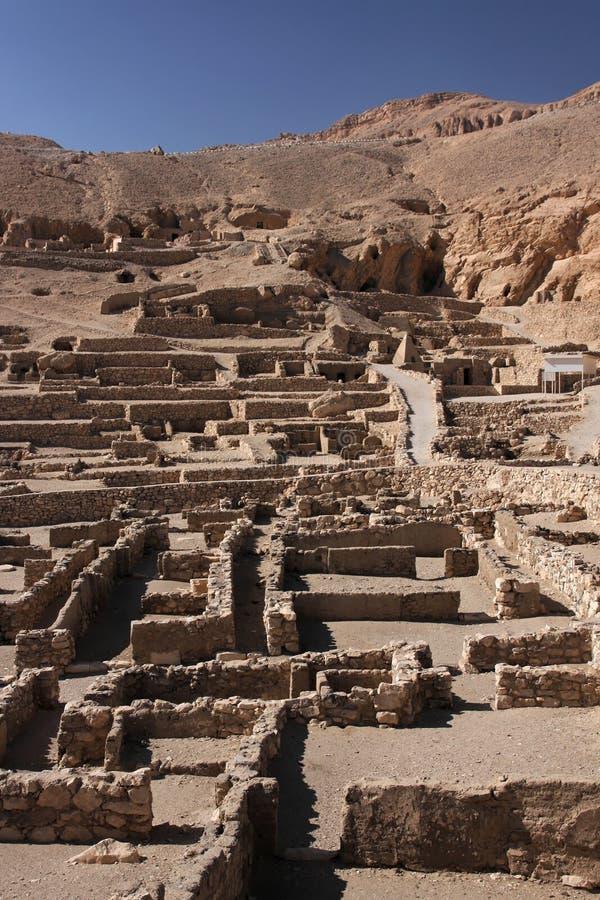 Deir Al medina. Village ruins near Luxor in South Egypt stock images