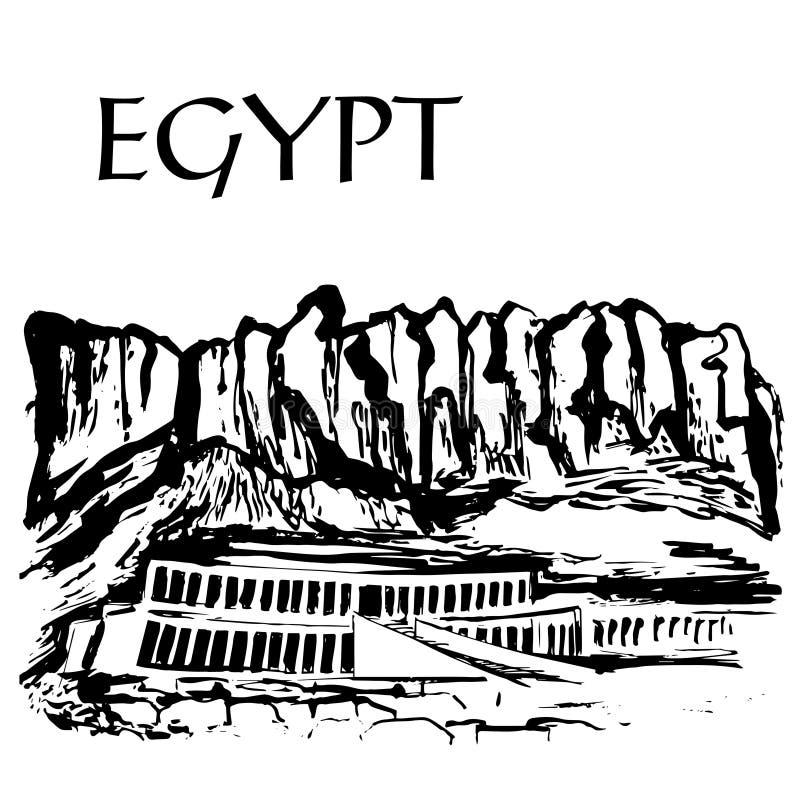 Deir elâ€` Bahari, dal av Queens royaltyfri illustrationer