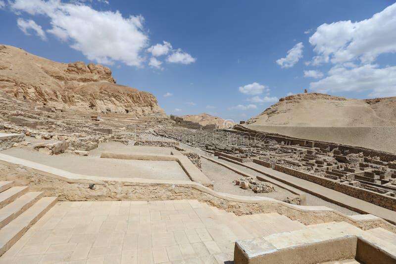 Deir Medina wioska w Luxor, Egipt zdjęcia royalty free