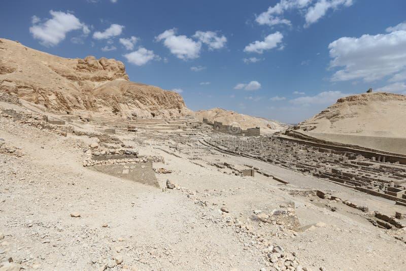 Deir Medina wioska w Luxor, Egipt zdjęcie stock