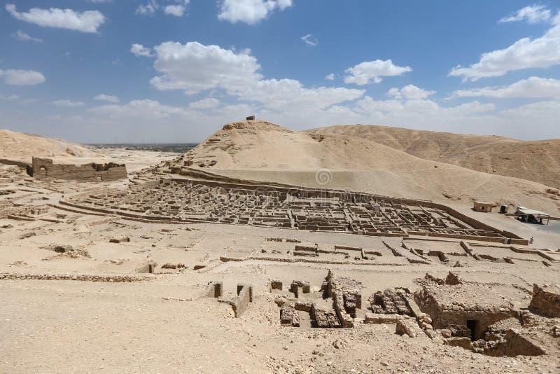 Deir Medina wioska w Luxor, Egipt fotografia royalty free