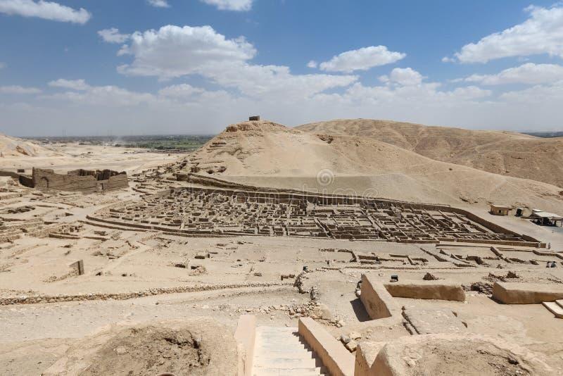 Deir Medina wioska w Luxor, Egipt zdjęcie royalty free