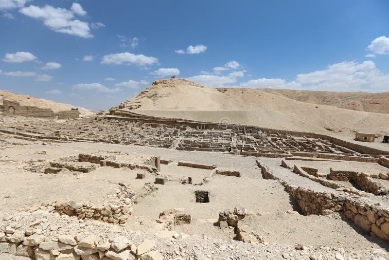 Deir Medina wioska w Luxor, Egipt obraz royalty free