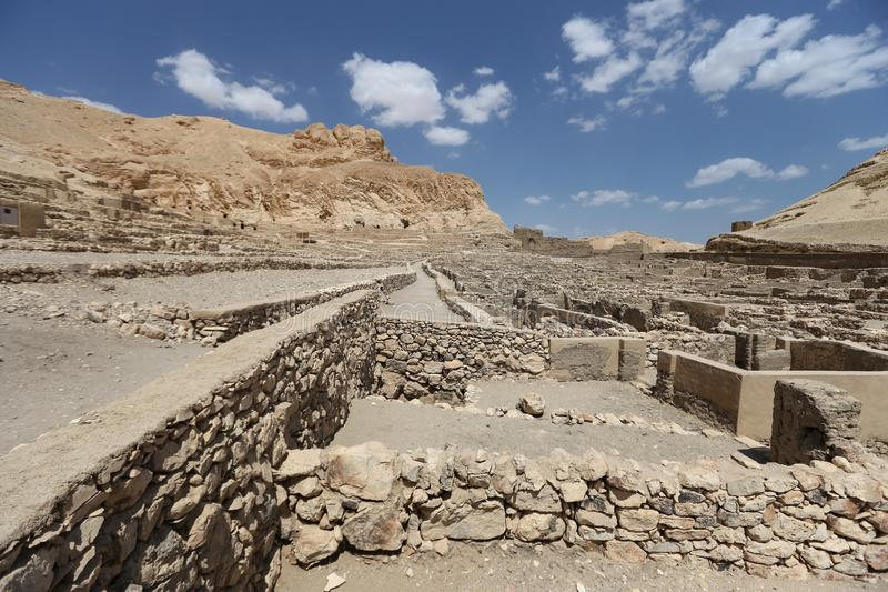 Deir Medina wioska w Luxor, Egipt obrazy stock