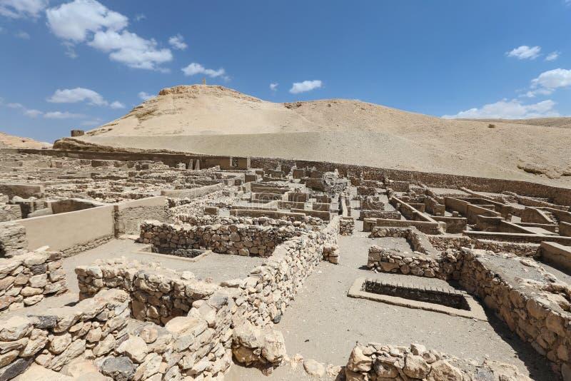 Deir Medina wioska w Luxor, Egipt obraz stock