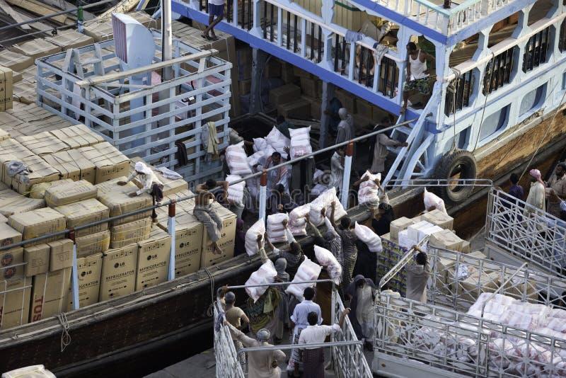 Deira Port Activity royalty free stock photography