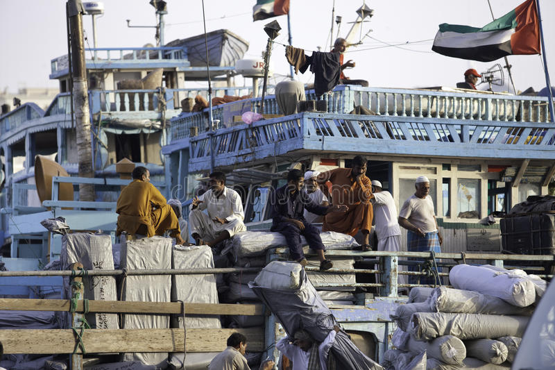 Deira Port Activity royalty free stock photos