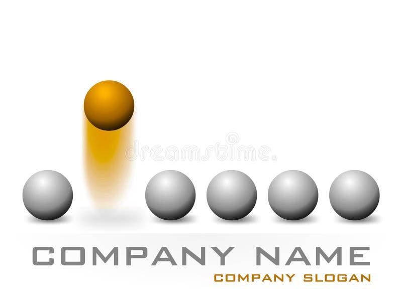 Deisgn de la insignia de la compañía ilustración del vector