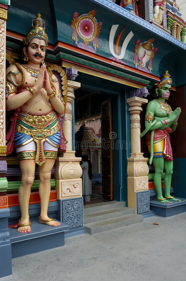Download DEITIES SEEN IN AN INDIAN TEMPLE Stock Photo - Image of tall, indian: 1418574