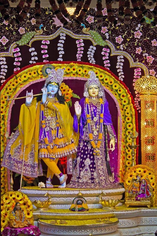 Deities van Radha en Krishna royalty-vrije stock foto