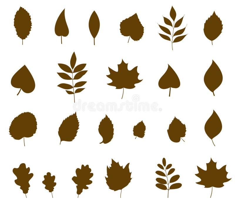 Deixa a ícone formas diferentes no estilo liso moderno ilustração stock