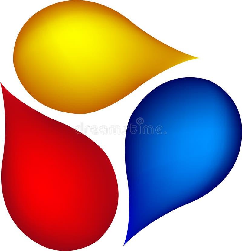 Deixa cair o logotipo ilustração stock
