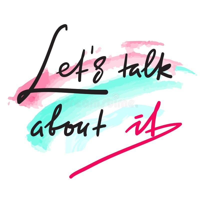 Deixa a conversa sobre ela - simples inspirar e citações inspiradores Rotulação bonita tirada mão Cópia para o cartaz inspirado,  ilustração do vetor