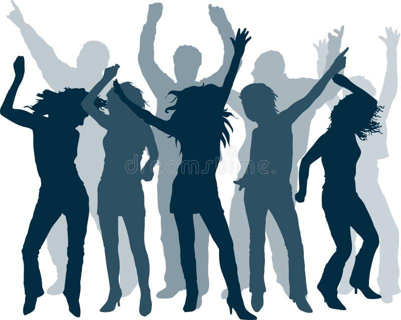 Deixa a dança! ilustração stock