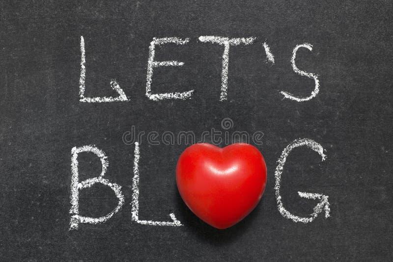 Deixa o blogue imagens de stock royalty free
