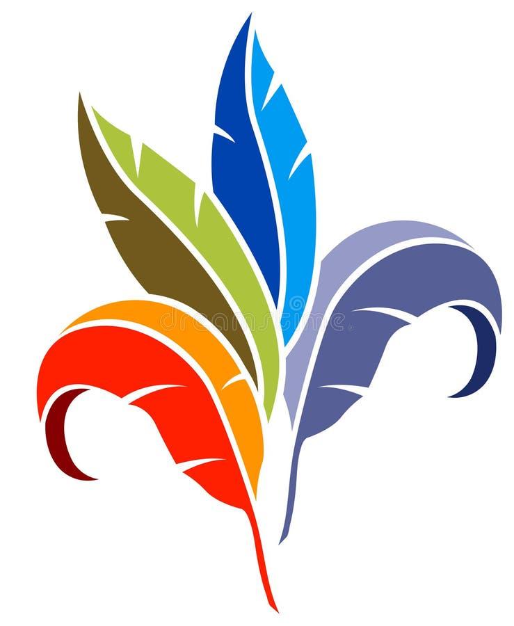 Deixa o logotipo ilustração do vetor