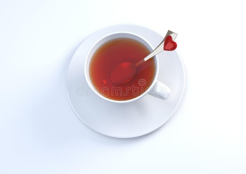 Download Deixa Para Comer Algum Chá Envenenado Amor Ilustração Stock - Ilustração de dessert, evento: 12803636