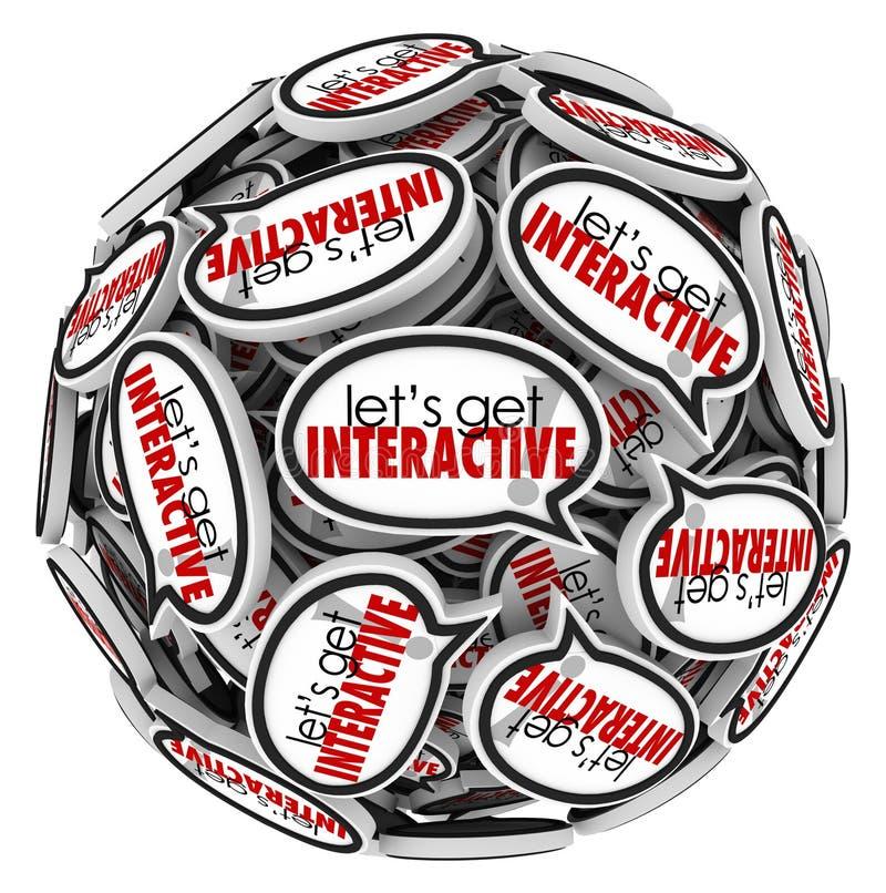 Deixa para obter uma comunicação do grupo das bolhas do discurso de Interacive ilustração stock