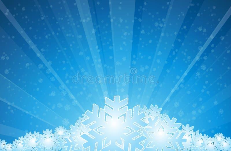 Deixais lhe para nevar ilustração royalty free