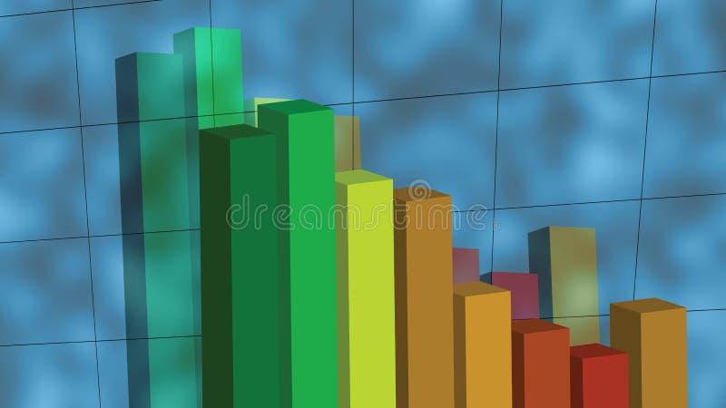 Deixar cair do gráfico foto de stock royalty free