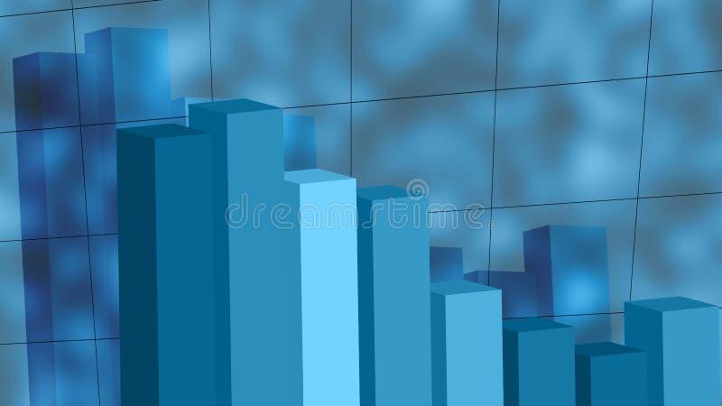 Deixar cair do gráfico imagem de stock royalty free