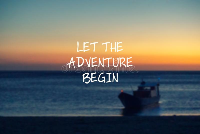 Deixe a aventura come?ar ilustração royalty free