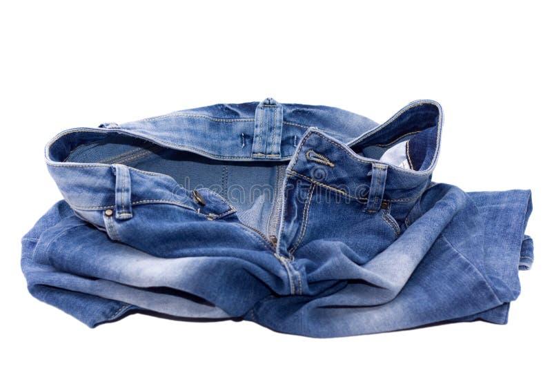 Deixe cair suas calças de brim imagens de stock