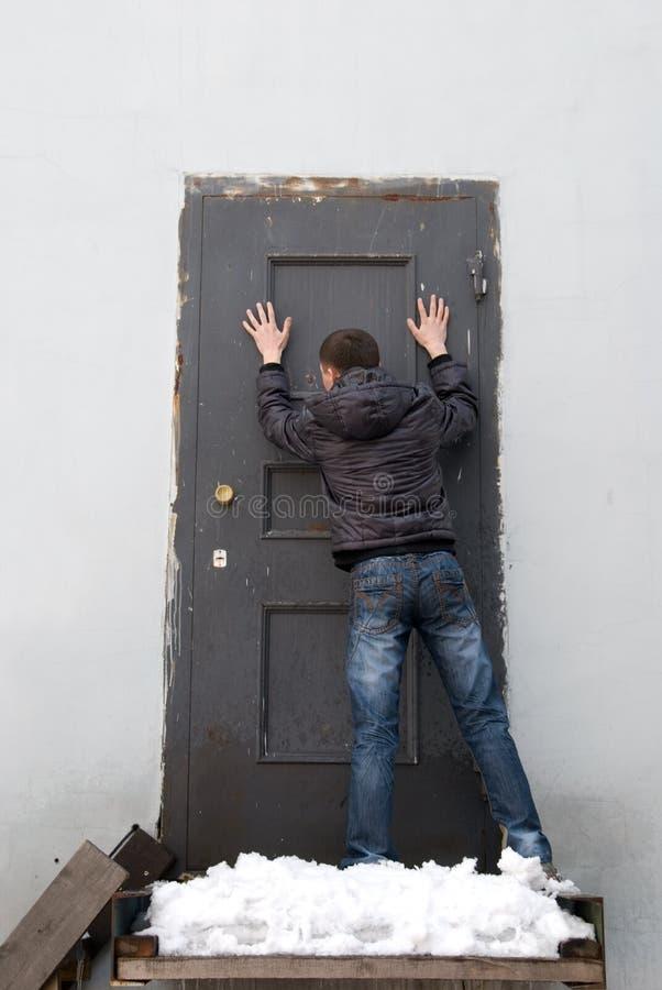 Deixe-me dentro! imagens de stock