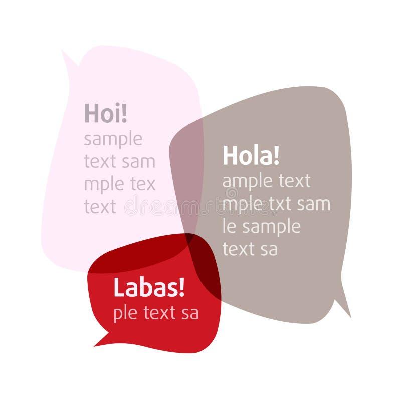 Deixe-nos falar. Vector bolhas. Introduza seu texto. ilustração royalty free