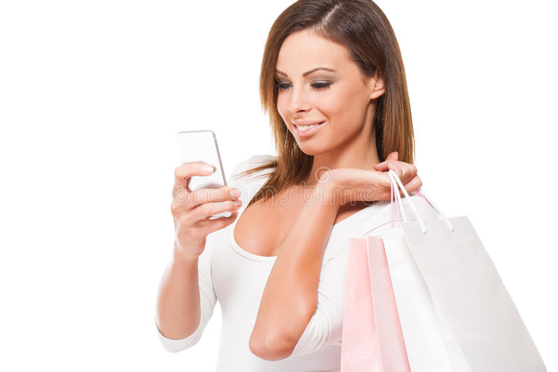 Deixe-nos ir comprar. imagens de stock