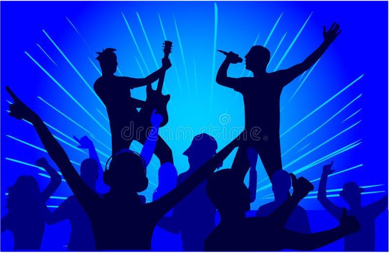 Deixe-nos Party - o fundo azul ilustração royalty free