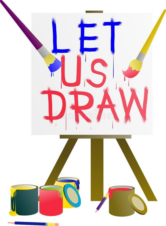 Deixe-nos pintura e desenho na beleza da cor fotos de stock royalty free