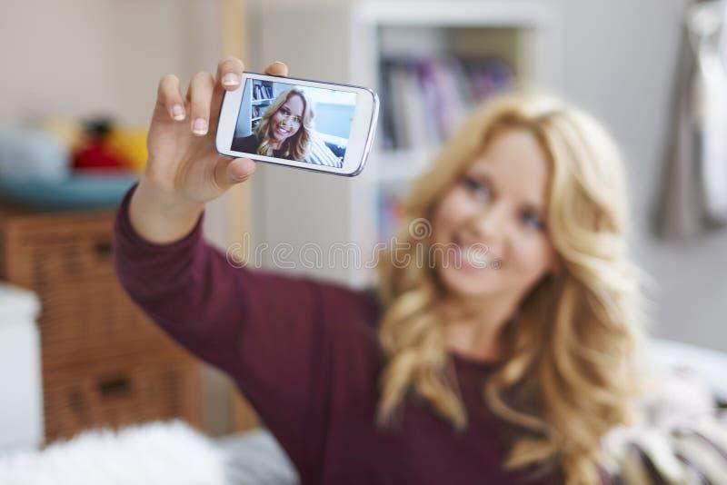 Deixe-nos tomar um selfie! imagens de stock royalty free