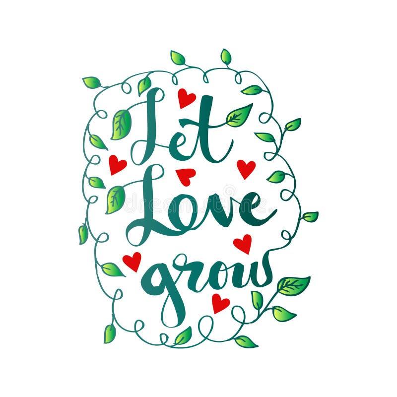 Deixe o amor crescer ilustração royalty free