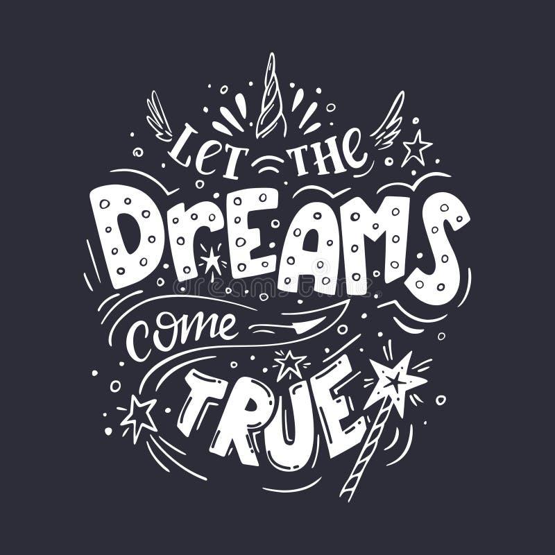 Deixe o b&w dos sonhos ilustração do vetor