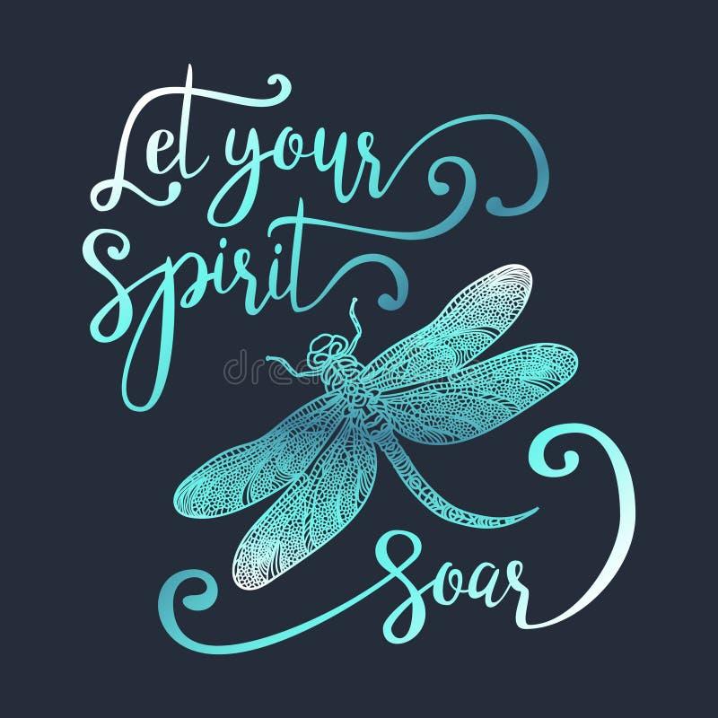 Deixe seu espírito subir ilustração do vetor