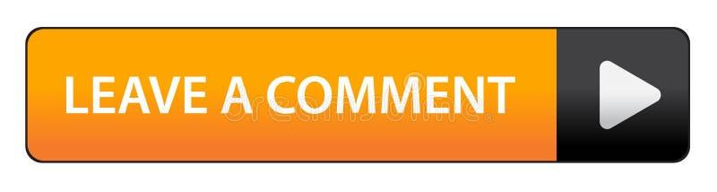 Deixe um botão do comentário ilustração royalty free