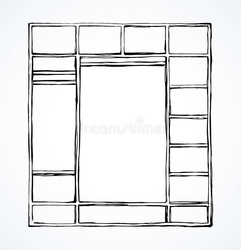 Deja de lado el guardarropa Gráfico del vector libre illustration