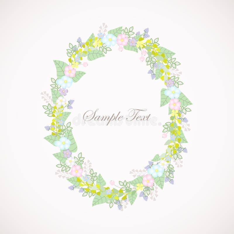 Deja a guirnalda floral la sombra en colores pastel fotos de archivo libres de regalías